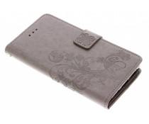 Kleeblumen Booktype Hülle Grau für Sony Xperia XA2