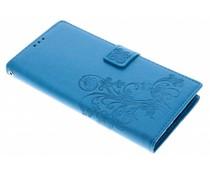 Kleeblumen Booktype Hülle Türkis für Sony Xperia XA2 Ultra