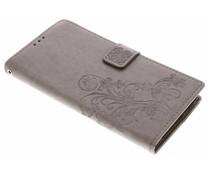 Kleeblumen Booktype Hülle Grau für Sony Xperia XA2 Ultra