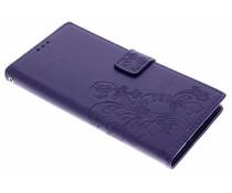 Kleeblumen Booktype Hülle Lila für Sony Xperia XA2 Ultra