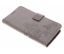 Kleeblumen Booktype Hülle Grau für Sony Xperia L2