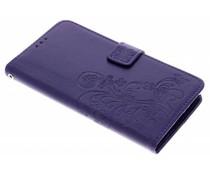 Kleeblumen Booktype Hülle Lila für Sony Xperia L2