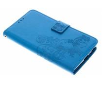 Kleeblumen Booktype Hülle Türkis für Sony Xperia L2