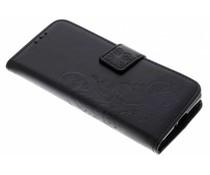 Kleeblumen Booktype Hülle Schwarz für Sony Xperia XZ2 Compact