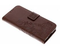 Kleeblumen Booktype Hülle Braun für Sony Xperia XZ2 Compact