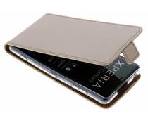 Selencia Goldfarbener Luxus TPU Flipcase Sony Xperia XZ2 Compact