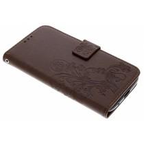 Kleeblumen Booktype Hülle Braun Motorola Moto E5 / G6 Play