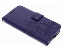 Kleeblumen Booktype Hülle Lila für Motorola Moto E5 / G6 Play