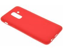 Rote Color TPU Hülle für Samsung Galaxy A6 Plus (2018)