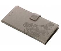 Kleeblumen Booktype Hülle Grau für Galaxy A6 Plus (2018)