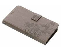 Kleeblumen Booktype Hülle Grau für Huawei Y7 (2018)