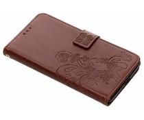 Kleeblumen Booktype Hülle Braun Sony Xperia XZ2 Premium