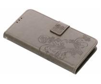 Kleeblumen Booktype Hülle Grau für Huawei Y6 (2018)