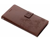 Kleeblumen Booktype Hülle Braun für das Galaxy Note 9