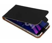 Selencia Luxus TPU Flipcase Schwarz Huawei Y6 (2018)