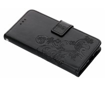 Kleeblumen Booktype Hülle Schwarz für Nokia 3.1