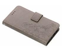 Kleeblumen Booktype Hülle Grau für Nokia 3.1