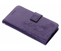 Kleeblumen Booktype Hülle Lila für Nokia 3.1
