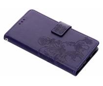 Kleeblumen Booktype Hülle Lila für Nokia 5.1
