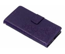 Kleeblumen Booktype Hülle Lila für das Nokia 6.1 Plus