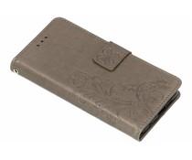 Kleeblumen Booktype Hülle Grau für das Nokia 6.1 Plus