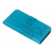 Kleeblumen Booktype Hülle Türkis für das Huawei Nova 3