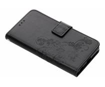 Kleeblumen Booktype Hülle Schwarz für das Sony Xperia Z5