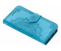 Mandala Booktype-Hülle Blau für das iPhone 5 / 5s / SE