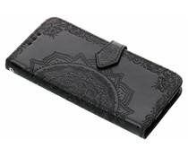 Mandala Booktype-Hülle Schwarz für das Motorola Moto G6