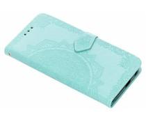 Mandala Booktype-Hülle Mintgrün für Motorola Moto G6 Plus