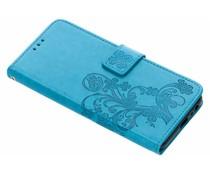 Kleeblumen Booktype Hülle für das Samsung Galaxy J4 Plus
