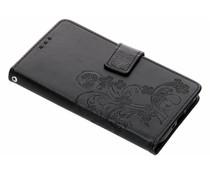 Kleeblumen Booktype Hülle Schwarz für das Nokia 7.1