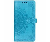 Mandala Booktype-Hülle Blau für das iPhone Xr