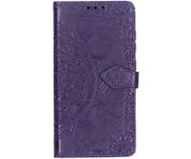 Mandala Booktype-Hülle Violett für das Xiaomi Pocophone F1