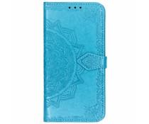 Mandala Booktype-Hülle Blau für das Huawei Mate 20 Lite