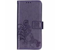 Kleeblumen Booktype Hülle Violett für das Huawei Mate 20
