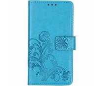 Kleeblumen Booktype Hülle Türkis für das Nokia 7.1