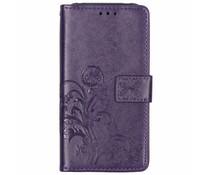 Kleeblumen Booktype Hülle Violett für das Nokia 7.1