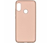 Carbon-Hülle Roségold für das Xiaomi Mi A2 Lite