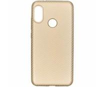 Carbon-Hülle Gold für das Xiaomi Mi A2 Lite