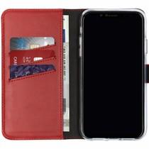 Selencia Echtleder Booktype Hülle Rot für das iPhone Xr