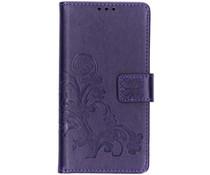 Kleeblumen Booktype Hülle Violett Samsung Galaxy S10e