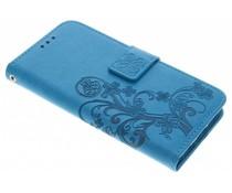 Kleeblumen Booktype Hülle für Samsung Galaxy S6 Edge
