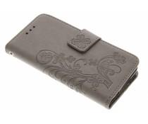 Kleeblumen Booktype Hülle Grau für Samsung Galaxy S5 Mini