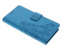 Kleeblumen Booktype Hülle Türkis für Huawei Y6