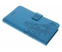 Kleeblumen Booktype Hülle Türkis für Sony Xperia L1