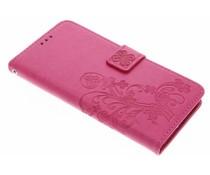 Kleeblumen Booktype Hülle Fuchsia für Acer Liquid Z6 Plus