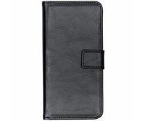 Luxus Leder Booktype Hülle Schwarz für das Nokia 3.1 Plus