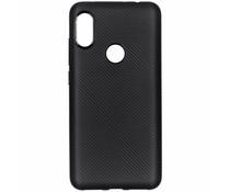 Carbon-Hülle Schwarz für das Xiaomi Redmi Note 6 Pro