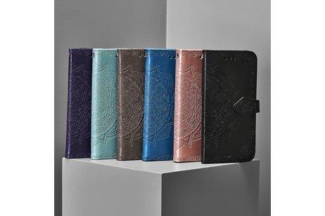 Nokia 5.1 Plus hülle - Mandala Booktype-Hülle Schwarz für